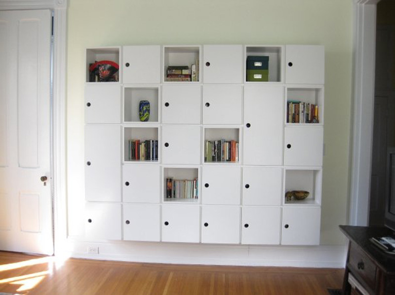 Cubicle-style bookshelves for my friend Elizabeth.