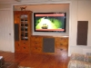 Cherry media center with copper countertop.