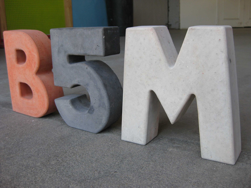 Concrete letters that I used to make.