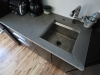 Large kitchen concrete countertop job. All standard grey, polished.