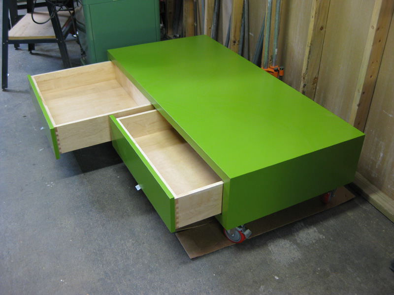 Funky furniture built for twin boys\' bedroom.