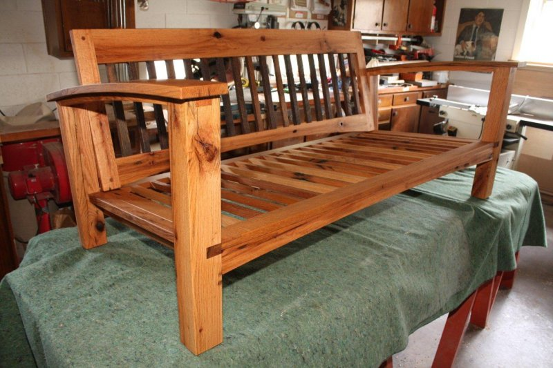 Reclaimed oak bench