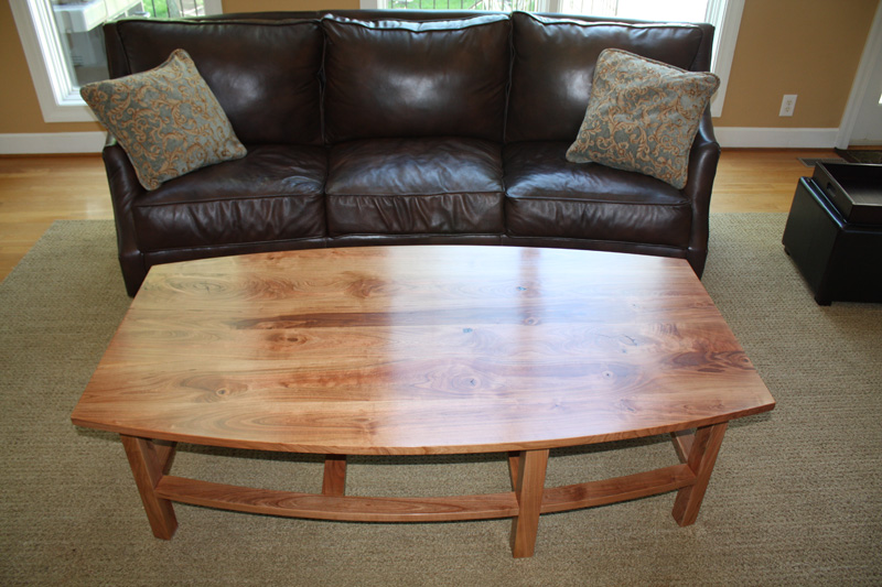 Coffee table built for client from cherry tree that had fallen in their yard.