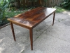 Table built from reclaimed heart pine from the Green Building.