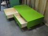 Funky furniture built for twin boys' bedroom.