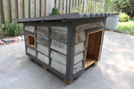 Doghouse built for Yew Dell Garden's Barkitecture project.