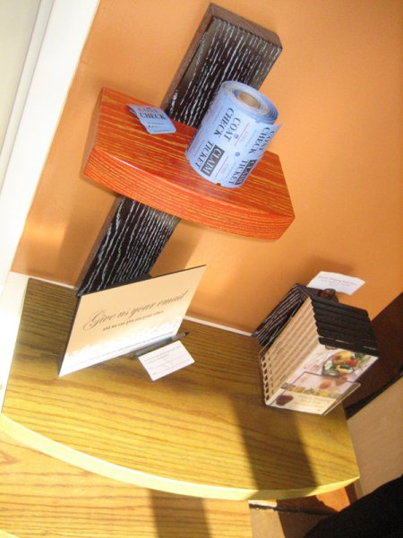 Product display pieces built for Joseph\'s Salon.