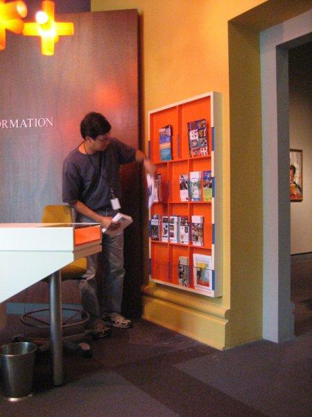 Media rack for the foyer of the Speed Art Museum.