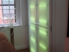 Light box doors that hide utility closet in Pat's place.