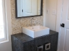 Cerused solid oak vanity built for the Randolph House.